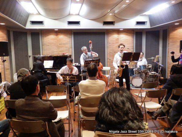 ハーベストムーン@音楽文化会館 練習室12「第33回新潟ジャズストリート」20190119