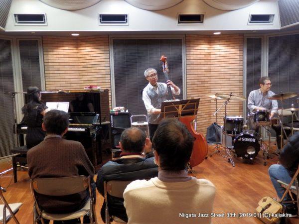 Satomi Trio@音楽文化会館 練習室12「第33回新潟ジャズストリート」20190119