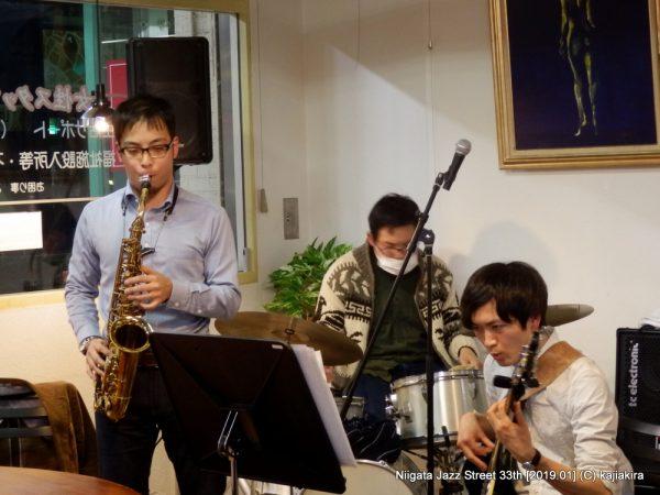 Taku's Quintet@カフェ りんく「第33回新潟ジャズストリート」20190119
