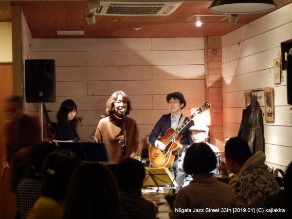 古沢和良カルテット with かーちゃん@Italian Restaurant LIFE「第33回新潟ジャズストリート」20190119