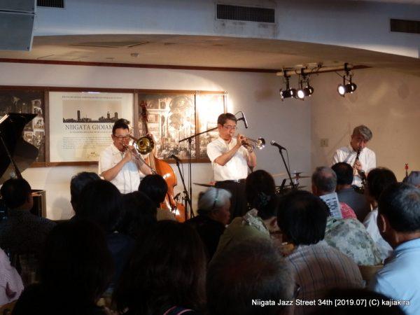 リバーサイド・ジャズバンド+TonTon@ジョイアミーア(東堀通7)☆第34回新潟ジャズストリート