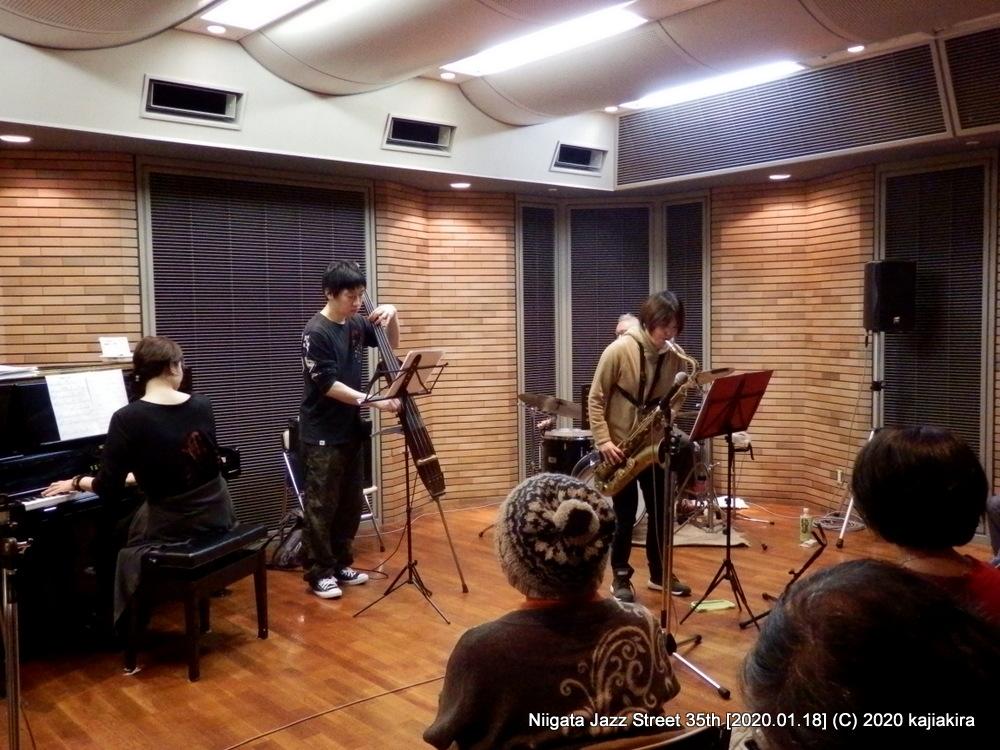 はやかわよしこカルテット[音楽文化会館 練習室12]第35回新潟ジャズストリート